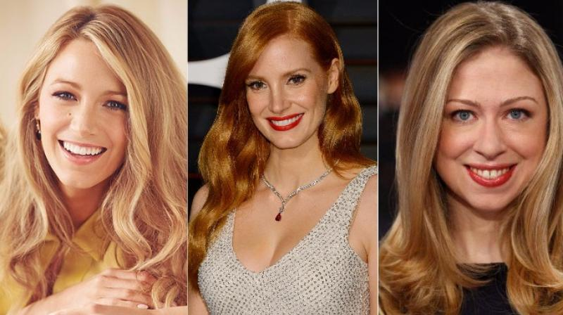Blake Lively, Jessica Chastain and Chelsea Clinton.