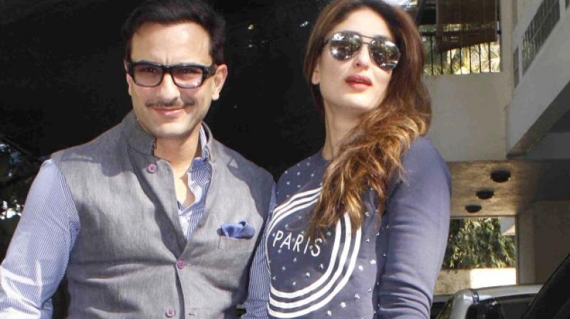 Saif Ali Khan with Kareena Kapoor Khan.