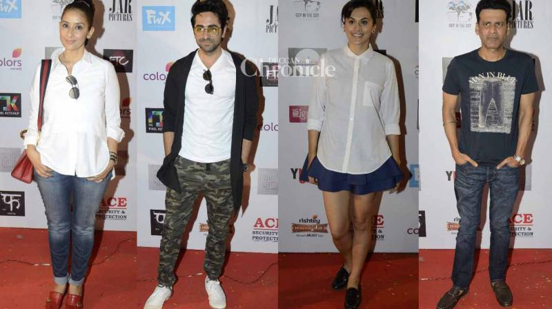 Numerous celebrities from the film industry were seen at the fifth and concluding day of the Khidkiyaan theatre fesitval in Mumbai on Sunday. (Photo: Viral Bhayani)
