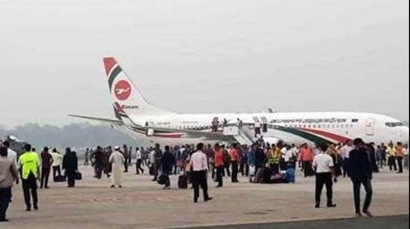 Bangladeshi commandoes shot the passenger who had tried to enter the cockpit of a Biman Bangladesh Airlines flight. (Photo:Twitter)