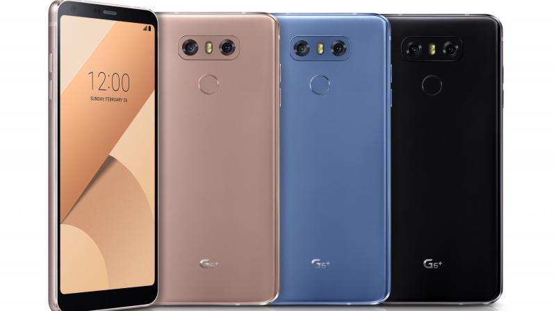 The LG G6+ will be available in Optical Astro Black, Optical Marine Blue, and Optical Terra Cloud, with hue to change according to the light.