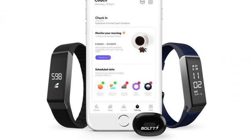 The AI fitness coach, essentially resides in the app as a text and voice coach, comes to life when any of the fitness device (smart band, shoes and stride sensor) is connected with the app.
