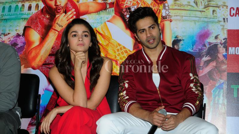 Varun Dhawan and Alia Bhatt have been trying their absolute bests to ensure that they end up pulling off another blockbuster. (Photo: Viral Bhayani)
