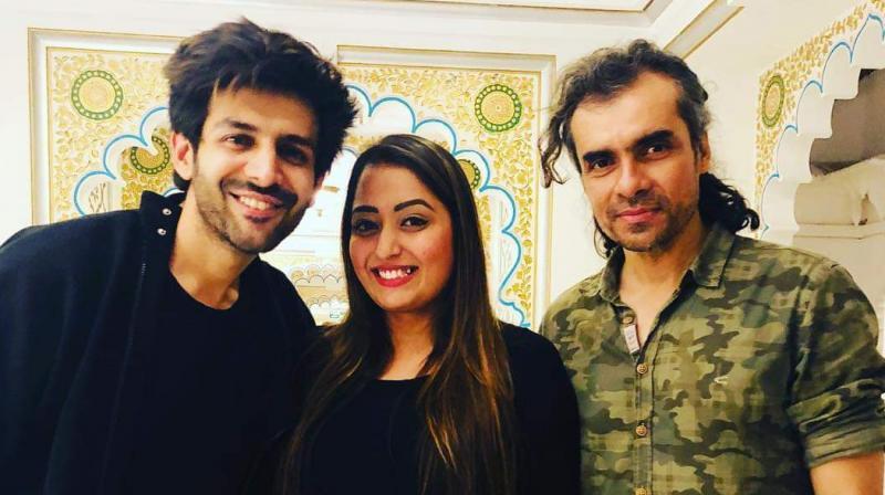 Leena Sharma with Kartik Aaryan and Imtiaz Ali.