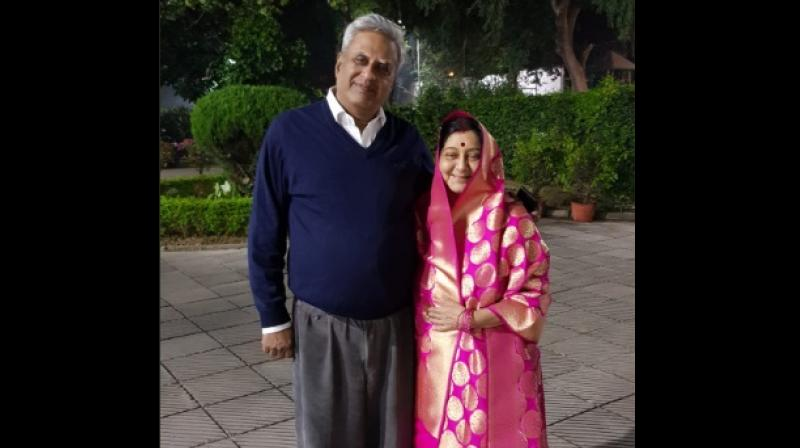 'I remember there came a time when even Milkha Singh stopped running,' Sushma Swaraj's husband Swaraj Kaushal said in a series of tweets. (Photo: Twitter Screengrab | @SushmaSwaraj)