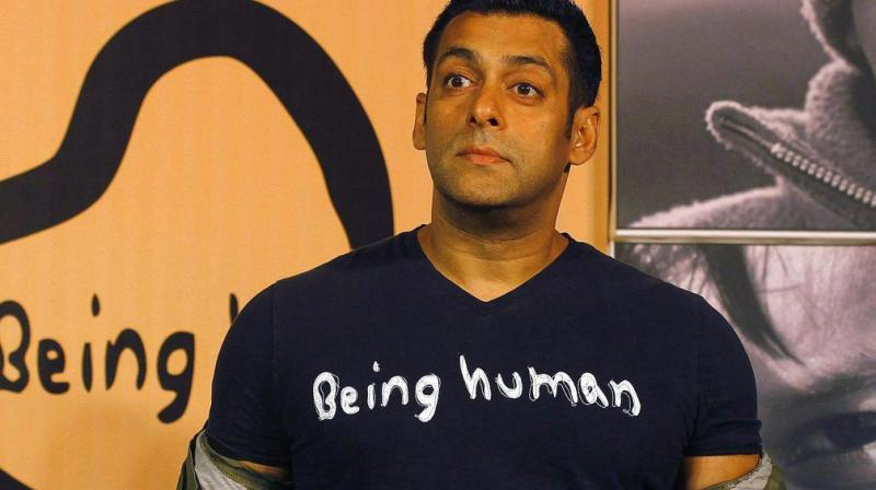 Salman Khan at Being Human event.