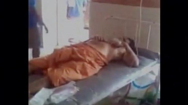 Swami, who was in a critical condition, was later admitted to the Medical College hospital on Saturday. (Photo: ANI Twitter)