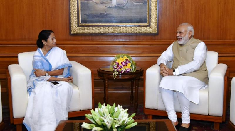West Bengal Chief Minister Mamata Banerjee on Tuesday morning wished Prime Minister Narendra Modi on his 67th birthday, a day before she is scheduled to meet him in Delhi. (Photo: File)