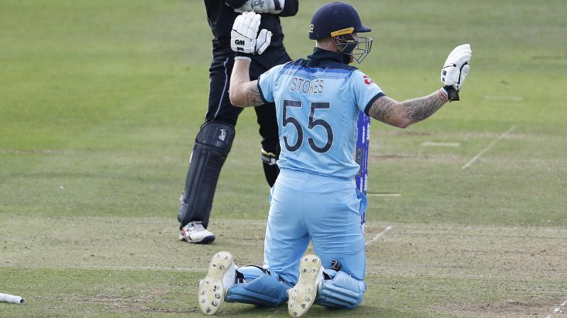 The overthrow rules drew MCC's attention after New Zealand were left to rue a fortuitous, last-over overthrow that went for four after getting a deflection off Stokes' bat, helping England take the match into Super Over and eventually lift the trophy via boundary count. (Photo:AP)