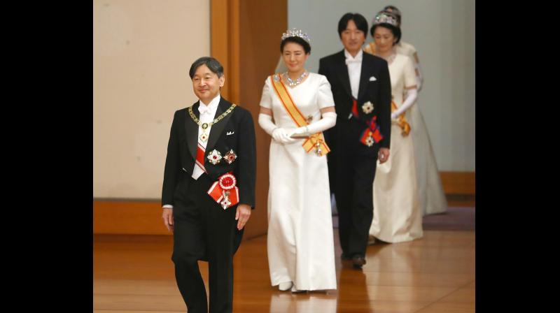 The sole woman invitee was the only female member of Prime Minister Shinzo Abe's cabinet. (Photo:AP)