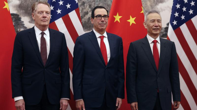 Mnuchin, along with US Trade Representative Robert Lighthizer, held a day of discussions, before Chinese Vice Premier Liu He. (Photo:AP)