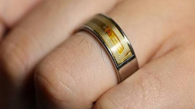 The electronic ring computing device will feature a touchscreen, wireless transceiver, processor, sensors, and a rechargeable power source. (Photo: ANI)