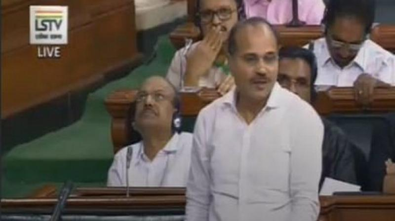 Speaking in the Lok Sabha on the Motion of Thanks to the President's Address, Chowdhury launched a scathing attack on the government and Prime Minister Modi, with the Chair ordering expunging of some of his comments, considered unparliamentary. (Photo: ANI)