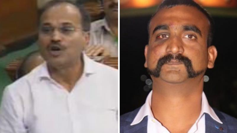 After Varthaman's returned to India, his swashbuckling gunsliger moustache and equally suave hairstyle has become the new fad among men across the country. (Photo: ANI)