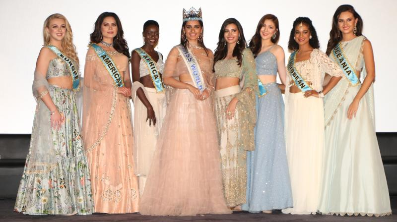 Miss World Manushi Chhillar visits Mumbai for Beauty with a Purpose Tour