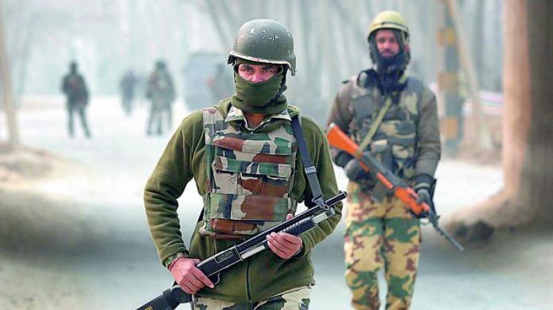 Soldiers patrol in Kashmir. (Photo: AP)