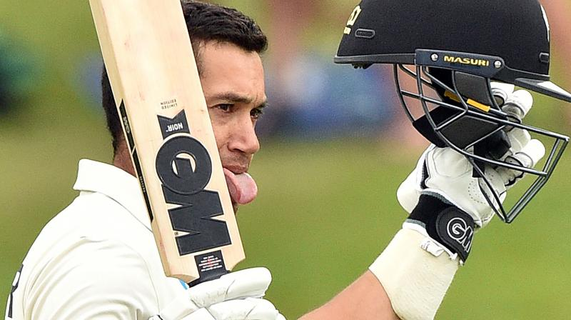 New Zealand cricketer Ross Taylor on Tuesday became the second and also the fastest Kiwi batsman to register 7000 runs in the longest format of the game. (Photo:AFP)