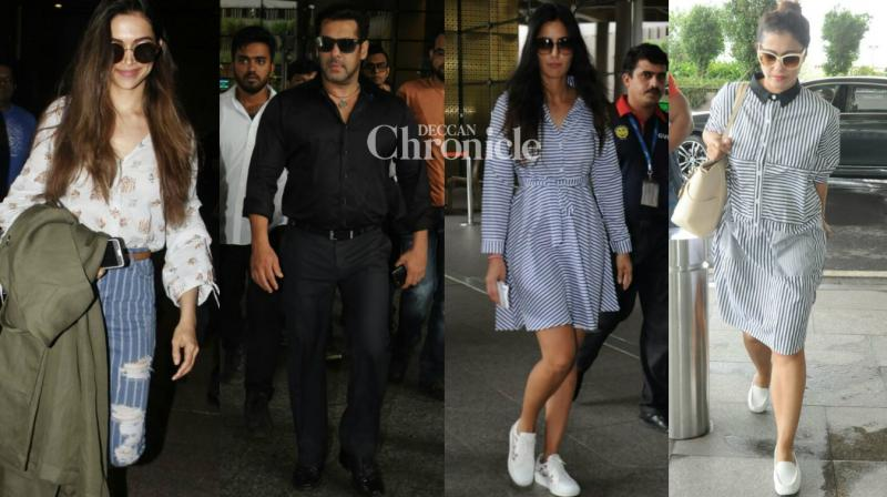 Several Bollywood stepped out in their stylish best as they travelled and were snapped at the airport and other locations in Mumbai on Sunday. (Photo: Viral Bhayani)