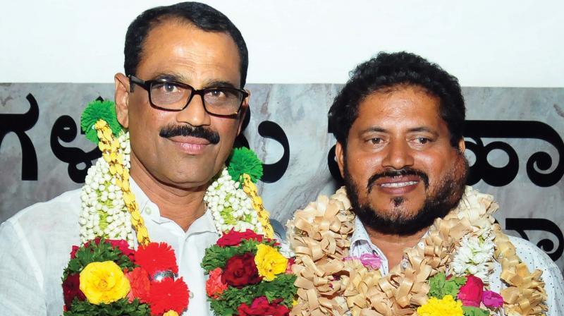 New Mayor Bhaskar K and Deputy Mayor Mohammed K