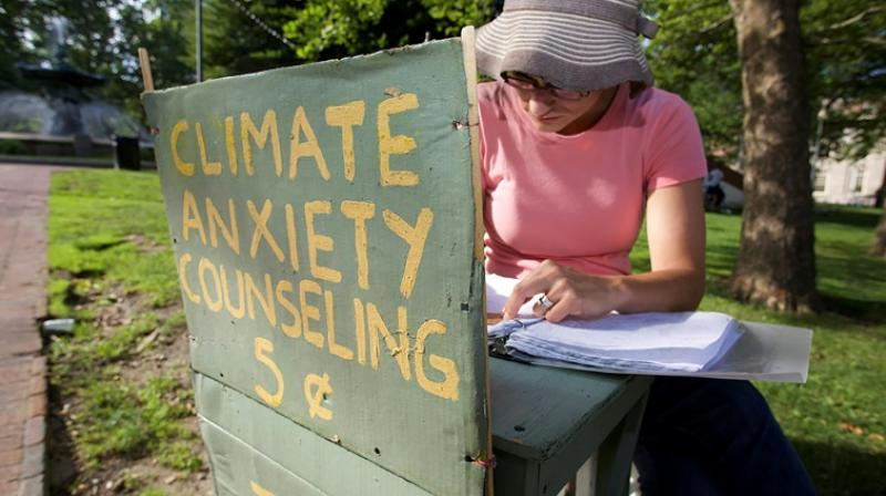 """Psychological responses to climate change such as """"conflict avoidance, fatalism, fear, helplessness and resignation are growing. (Photo: AFP)"""