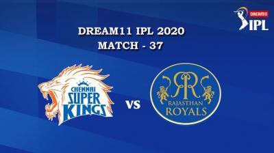 CSK VS RR  Match 37, DREAM11 IPL 2020, T-20 Match