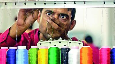 Around 6 million spindles are lying idle. In February 2013, the monthly yarn exports to China stood at 140 million kg and this has now come down to around 40 million kg.