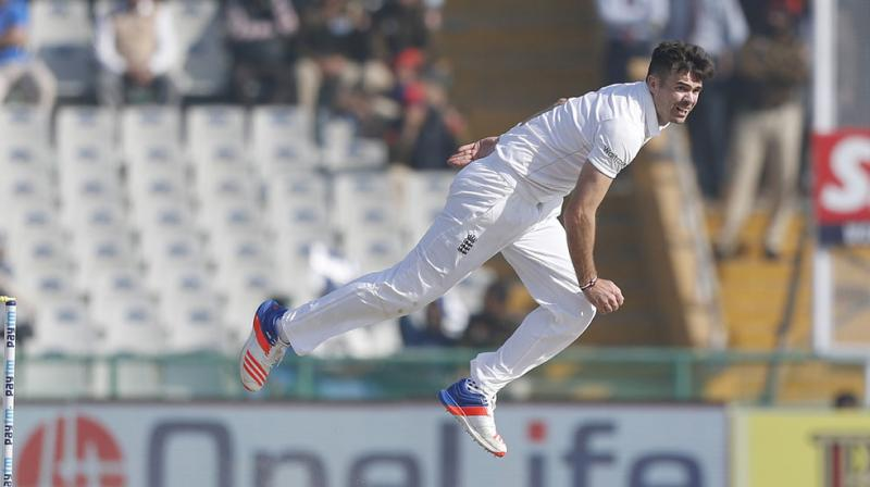 James Anderson is ruled out of the fifth and final Test against India due to soreness in his body. (Photo: AP)