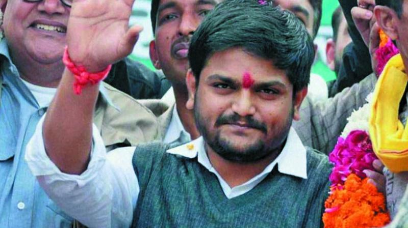 Gujarat Patidar leader Hardik Patel