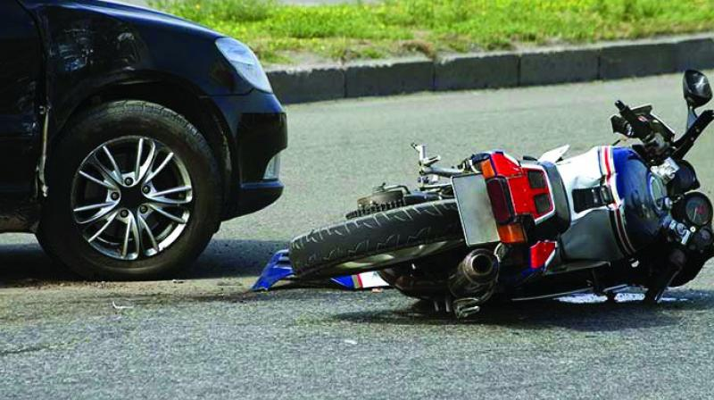 """""""Lack of control of the over-speeding vehicle, and lack of driving skills and not wearing headgear resulted in the accident and the deaths of two persons,"""" said Cyberabad DCP (Traffic) SM Vijay Kumar."""