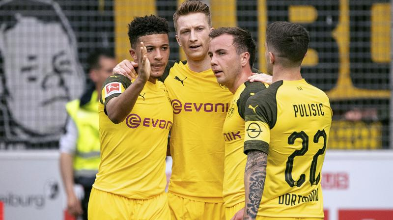 It had all started perfectly for Dortmund with Mario Goetze's header from a superb Jadon Sancho assist putting them in front in the 14th minute. (Photo: AP)