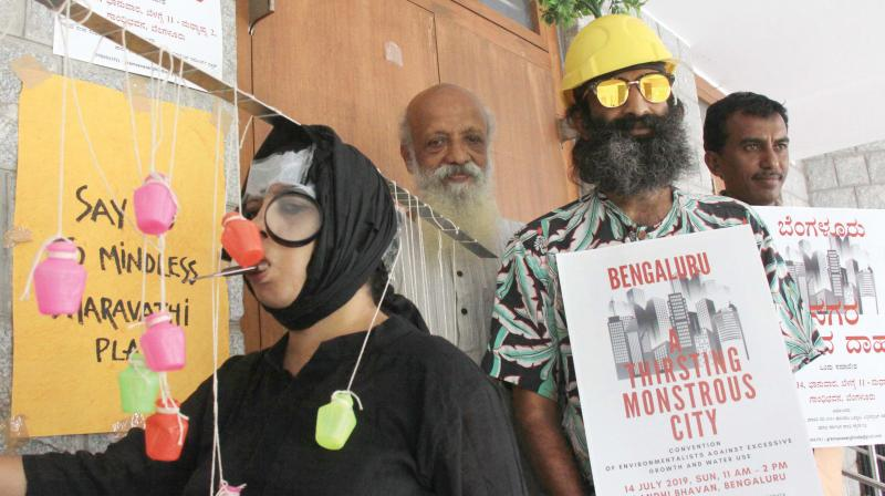 Artistes during the Gram Seva Sangh session in Bengaluru on Sunday