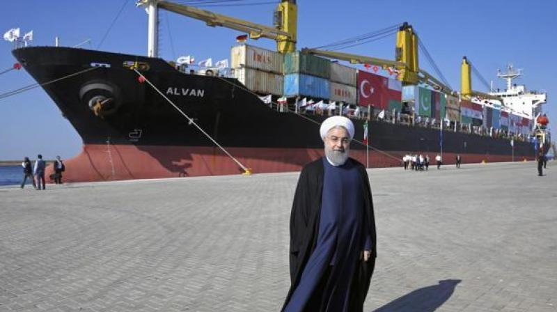 The first phase of the Chabahar port on the Gulf of Oman coast was inaugurated Sunday by Iranian President Hassan Rouhani. (Photo: AFP)