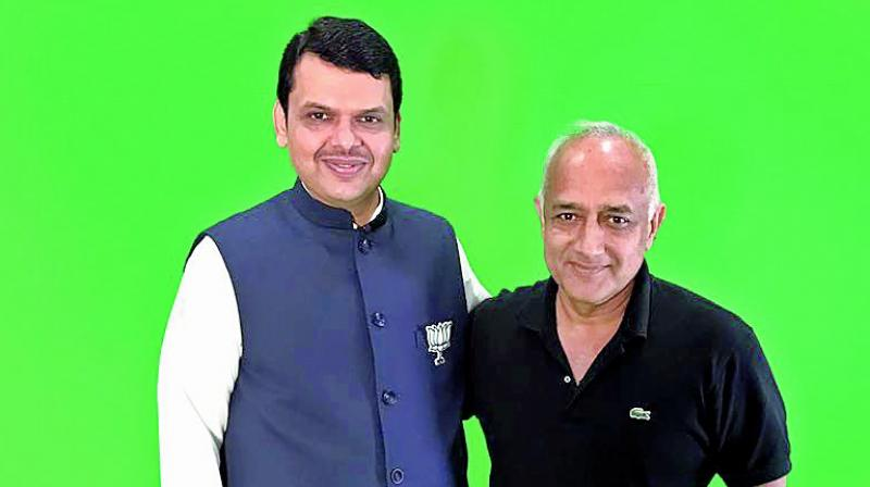 Maharashtra Chief Minister Devendra Fadnavis and Mani Shankar
