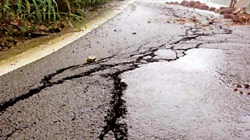 According to a report submitted by NHAI authorities to the Kodagu district administration, a longitudinal surface crack appeared on Wednesday for a length of about 8 metres.