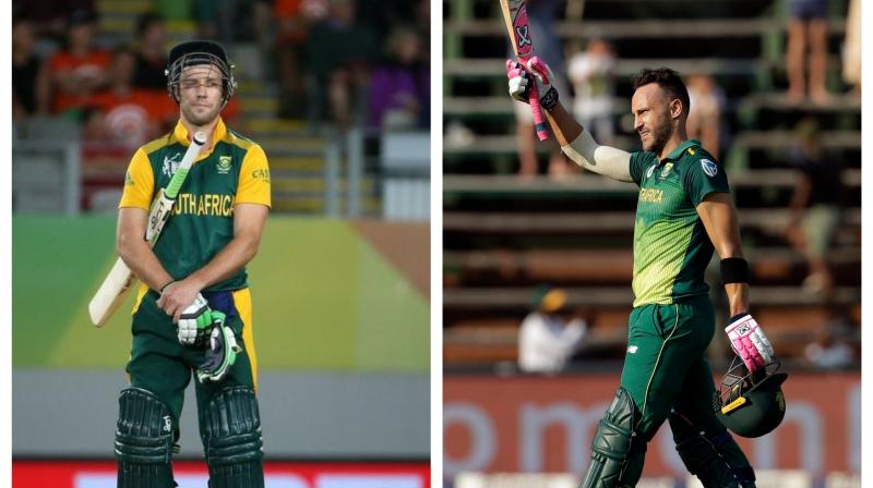Du Plessis was also asked whether all these recent incidents regarding De Villiers impacted his team negatively or had a galvanizing effect. (Photo:AFP/AP/PTI)