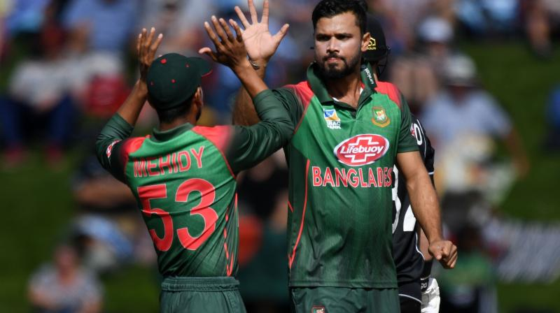 Mashrafe felt the two-wicket loss against New Zealand has intensified pressure on the team but was optimistic they would respond positively. (Photo:AFP)