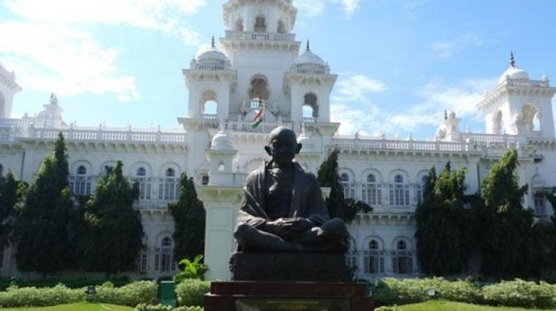The main opposition in Telangana, Congress, held protests both within and outside the Legislative Assembly on the opening day of the session. (Photo: File | PTI)