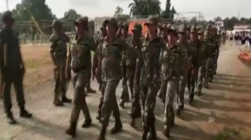 The Independence Day parade will be commanded by Deputy Superintendent of police, Dineshwari Nand, while Assistant Sub-Inspector, Anita Meshram, will be Parade Second-in-Command. (Photo: ANI)