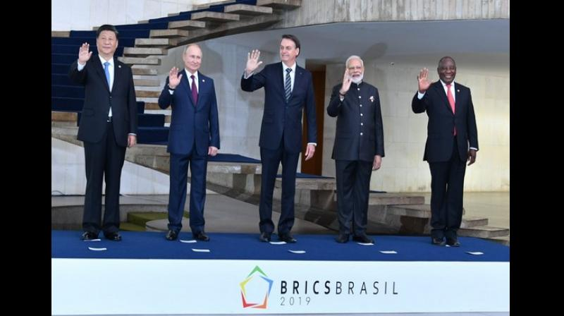 The document presents a shared vision of the BRICS nations on such issues as a reform of the system of international relations, strengthening of international financial and economic architecture, future cooperation between the five countries. (Photo: ANI)