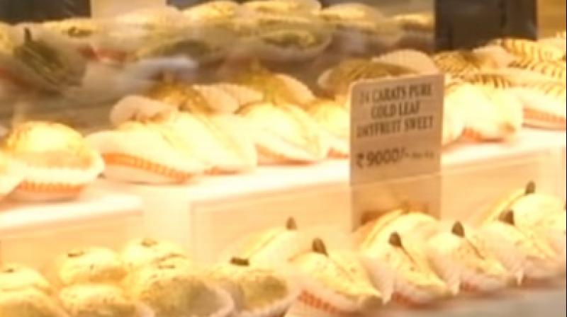 These sweets have been named 'Gold Sweets' and are the centre of attraction for all the customers (Photo: YouTube)