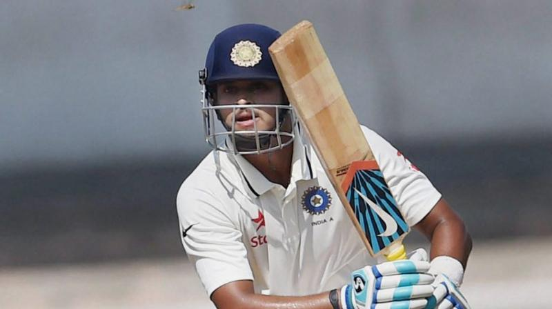 Shreyas Iyer smashed 5 sixes and 7 fours in an almost run-a-ball innings to remain unconquered on 85 in a team score of 176 for 4 in 51 overs. (Photo: PTI)