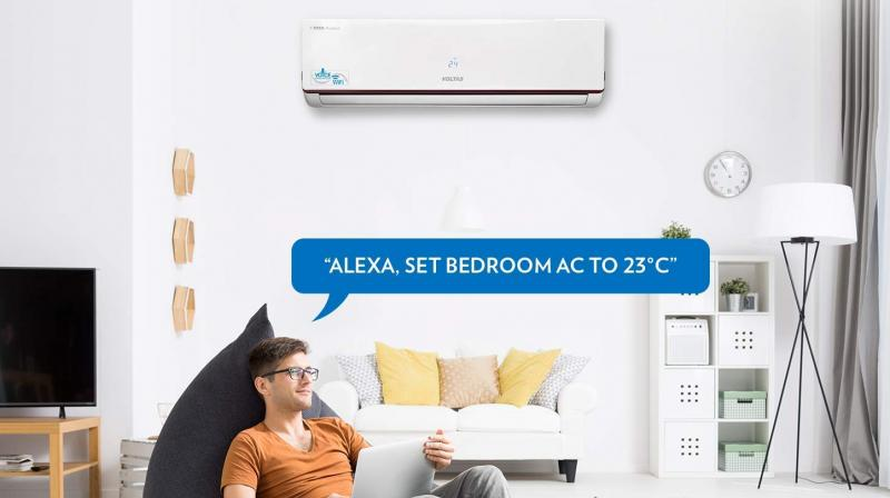 """Users can turn their AC on and off and change the temperature, hands-free, by simply saying """"Alexa, turn on the AC"""" or """"Alexa, set AC to 23 degrees""""."""