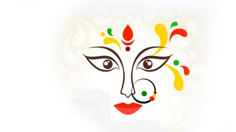 Durga is the inaccessible, invincible one and omnipotent, the main source of energy for creation.