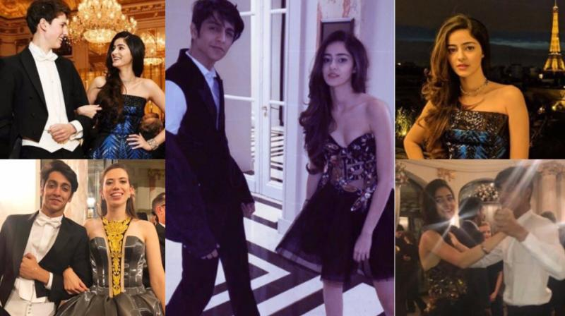 Pictures of Ananya and Ahaan Pandey shared on Instagram.