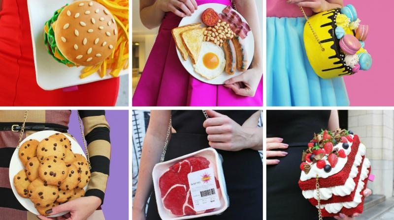 A Netherlands-based designer has been rocking Instagram with her incredible food-inspired fashion accessories. (Photo: Instagram/ @rommydebommy)
