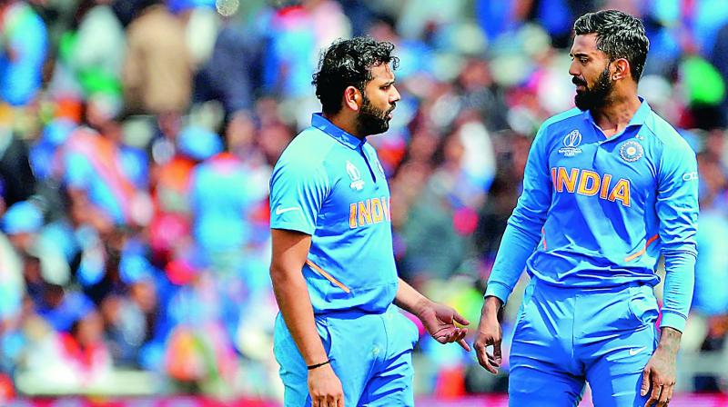 India openers Rohit Sharma (left) and KL Rahul.