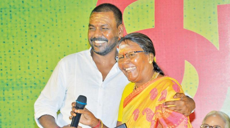 Lawrence with mother Kanmani.