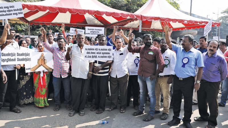 Several people turned up at the Chennai rally to demand the reopening of Sterlite  plant, on  Wednesday. (Photo: DC)