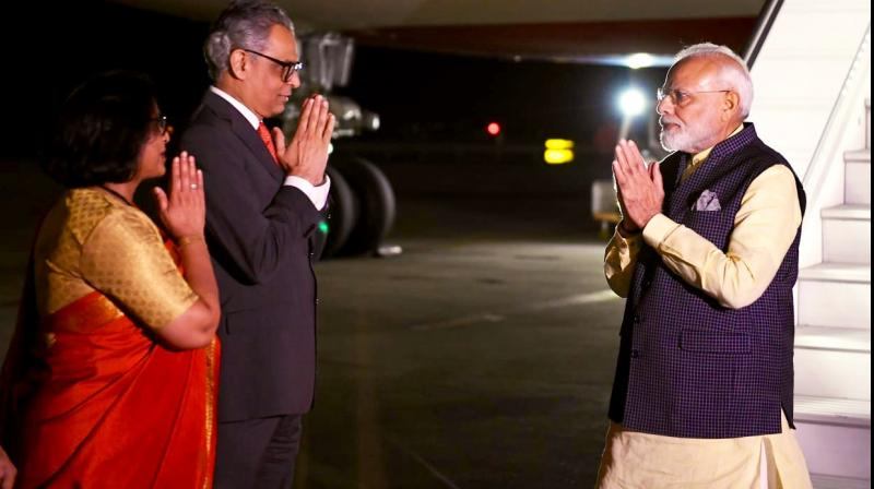 Modi will have several bilateral meetings during his visit and will address the General Debate on September 27. (Photo: Twitter)