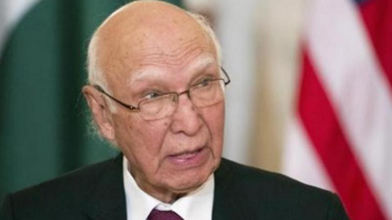 Pakistan Foreign Affairs Adviser Sartaj Aziz. (Photo: AP)